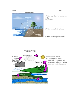 Practice Quiz #3 for New York State Middle Science Test (water cycle