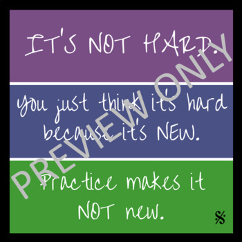 Practice Quotes Posters - Band Hall Bulletin Board Set and Room Décor