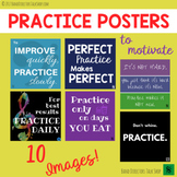 Music Bulletin Board- Practice Quotes Music Decor Posters