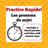 Practice Rapide - Timed Practice Sheets for French Subject