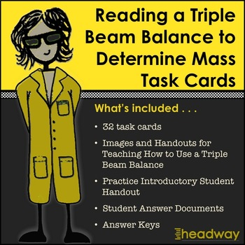 Practice Reading a Triple Beam Balance to Determine Mass Task Cards