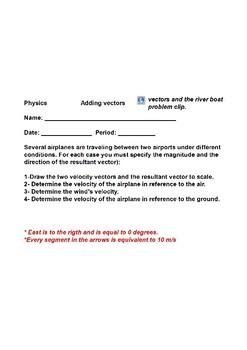 Practice Relative velocity adding vectors