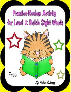 Practice -Review Activity for Dolch Level 2 Words -- Free