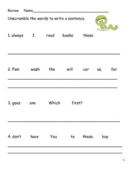 Free-Practice -Review Activity for Dolch Level 2 Words -- Free