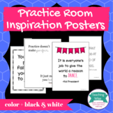 Practice Room Inspiration Poster or Bulletin Board Set