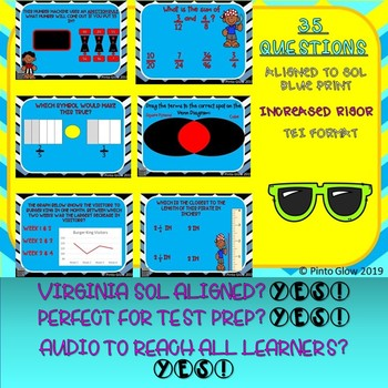 Practice SOL Test 4th Grade Math Boom Cards 4 decks!