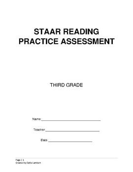 Practice STAAR Reading Assessment- 3rd Grade TEKS