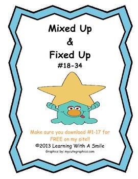 Sentence Scrambles: Mixed Up & Fixed Up (Set 2)
