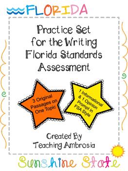 Practice Set for the Writing FSA (Florida Standards Assess
