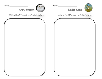 Practice Sheets for National Geographic Kids Phonics Beginning Blends