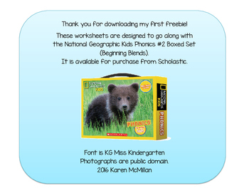 Practice Sheets for National Geographic Kids Phonics Begin