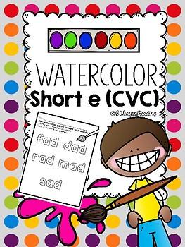 Mutisensory Practice Short E {CVC} with Watercolors!