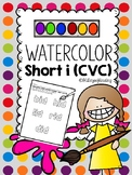 Multisensory Practice Short I {CVC}  with Water Colors!