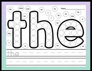 Sight Word Activities with Daubers {220 Sight Word Practice Pages!}