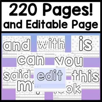 Sight Word Practice with Sight Word Dab Pages {220 Pages} {Word Work Activities}