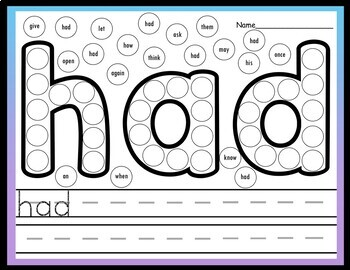 First Grade Literacy Centers with Daubers {41 Words!}
