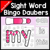 Sight Words for Kindergarten with Bingo Daubers {40 Words!}