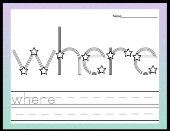 Sight Word Centers with Star Stickers {220 Words!}