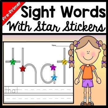 Sight Words Kindergarten with Stickers {40 Words!}