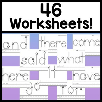 Second Grade Sight Words with Stickers {46 words!}