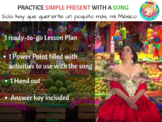Practice Spanish Present Tense Conjugation and Listening with a Song