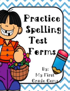 Free Practice Spelling Test Forms