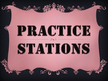 Cute Free Pdf! Practice Stations! Band, Orchestra, Chorus