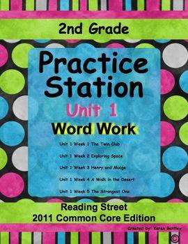 Practice Stations: Unit 1, Word Work, 2nd Grade, Reading Street 2011 C.C. Ed.