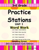 Practice Stations: Unit 1, Word Work, 3rd Grade, Reading S