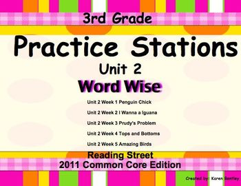 Practice Stations: Unit 2, Word Wise, 3rd Grade, Reading Street 2011 C.Core Ed.