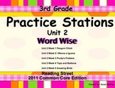Practice Stations: Unit 2, Word Wise, 3rd Grade, Reading S