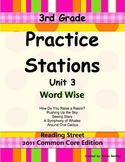 Practice Stations: Unit 3, Word Wise, 3rd Grade, Reading S