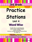 Practice Stations: Unit 4, Word Wise, 3rd Grade, Reading S
