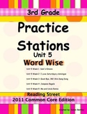 Practice Stations: Unit 5, Word Wise, 3rd Grade, Reading S