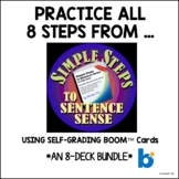 Practice Steps 1-8 in Simple Steps to Sentence Sense | BOO