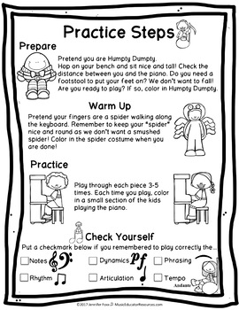 Practice Steps for the Young Piano Student