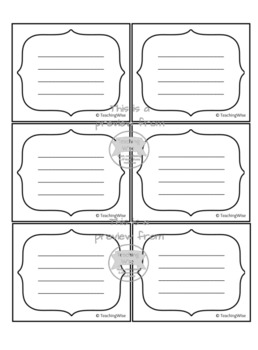 Practice Task Cards for Any Instrument or Voice