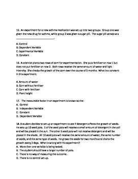 Practice Test For Scientific Inquiry