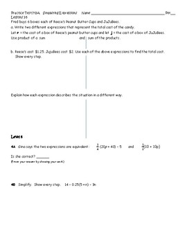Practice Test G7M3 L 1 to 5 for Eureka Math