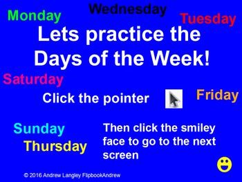 Practice The Day of the Week Names With Vocal Prompts Promethean Activity