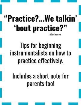 Practice Tips Handout