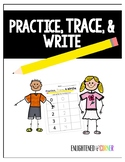Practice, Trace and Write Numbers 1-20