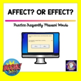 Practice Using Affect and Effect Boom Cards™   Printable   Easel™