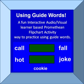 Practice Using Guitde Words Interactive Promethean Activity