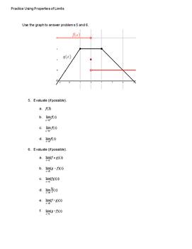 Practice Using Properties of Limits
