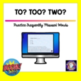 Practice Using TO, TWO, and TOO BOOM Cards for Distance Learning