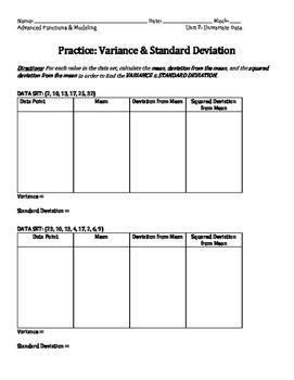 Practice: Variance & Standard Deviation