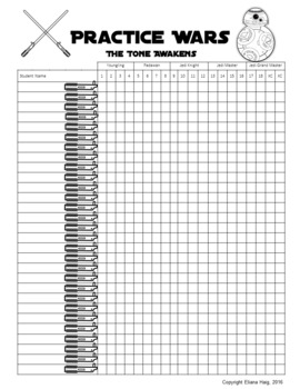 Practice Wars: A Music Practice Challenge Chart
