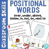Positional Word Practice Activities for Pre-K, Kinder and Special Ed. Classrooms