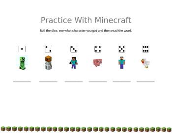 Practice Words with Minecraft
